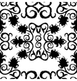 black seamless lace floral pattern on white vector image vector image