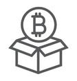 block reward line icon bitcoin and money vector image vector image