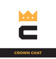 c letter with crown modern icon design logo vector image