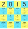 calendar 2015 year in colors ukrainian vector image