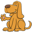 cartoon dog animal character waving paw vector image vector image