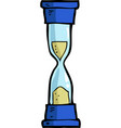 cartoon doodle hourglass vector image