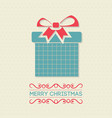 christmas card with pattern and gift box vector image vector image