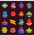 collection abstract label sticker tags vector image