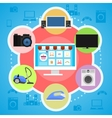 Concept of online shopping vector image
