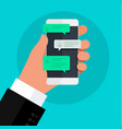 concept online conversation vector image