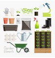Conceptual of Gardening Garden tools equipment vector image