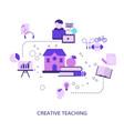 creative teaching vector image