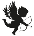 Cupid with bow vector image vector image
