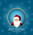cute santa christmas background vector image vector image