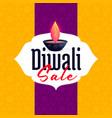 diwali sale template banner design for festival vector image vector image