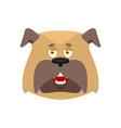 dog happy emoji pet merry emotions bulldog joyful vector image vector image