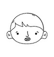 dotted shape avatar boy head with hairstyle design vector image