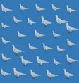 dove pattern background vector image vector image