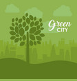 eco and green city design vector image vector image