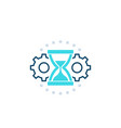 efficiency time management icon vector image vector image