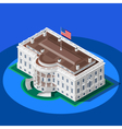 Election Infographic White House Isometric vector image vector image