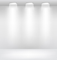 Empty showcase stage with lights vector | Price: 1 Credit (USD $1)