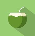 Flat Design Coconut Icon vector image