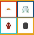 flat icon garment set of clothes trunks cloth vector image