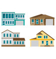 flat residential house set vector image vector image