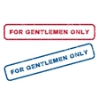 For Gentlemen Only Rubber Stamps vector image vector image