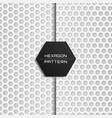 geometric hexagon pattern with shadow style vector image