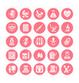 gynecology obstetrics flat glyph icons vector image