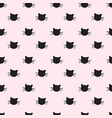 hand drawn cats seamless pattern vector image vector image