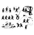 healthy lifestyle active children playing vector image