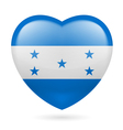 Heart icon of Honduras vector image vector image
