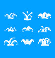 jester fools hat icons set simple style vector image vector image
