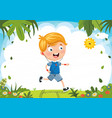 kid running vector image vector image