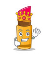king lipstick character cartoon style vector image vector image