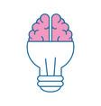 light bulb brain idea vector image