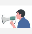 man holding megaphone to speech vector image vector image