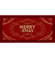 Merry Christmas greeting vintage frame vector image vector image