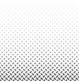 monochrome abstract repeating halftone ellipse vector image vector image