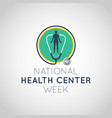national health center week logo icon vector image vector image