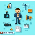 news and mass media vector image vector image