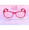 Pink eyeglasses for positive lifestyle vector image vector image