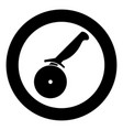 pizza cutter ot pizza knife icon black color vector image