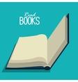 read books design vector image vector image