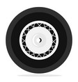 retro wheel isolated vector image