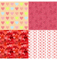 romantic spring bright seamless patterns set vector image vector image