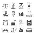 Scales Weight Icons Set vector image vector image