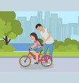 secrets of successful bike ride for children vector image vector image