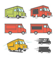 set food trucks from various angles vector image vector image