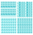 set geometrical seamless flat pattern vector image
