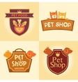 Set of logos for pet shop hotel vector image